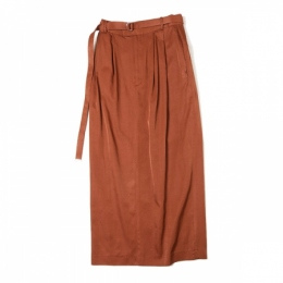 PUFFY STRAIGHT MAXI SKIRT