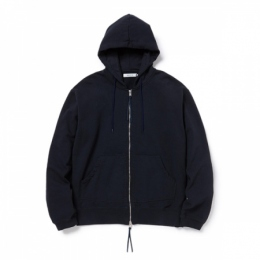 DWELLER FULL ZIP HOODY COTTON SWEAT OVERDYED