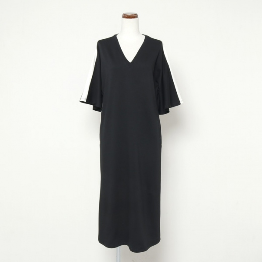 suvin pima jersey flared sleeve dress