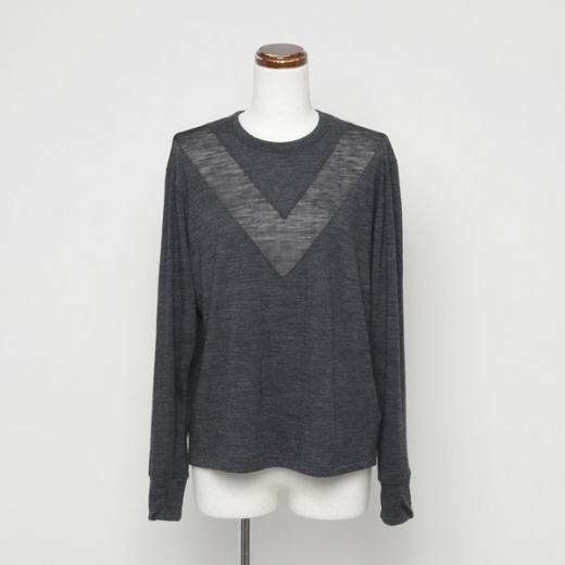 wool soft jersey tilden long T-shirt