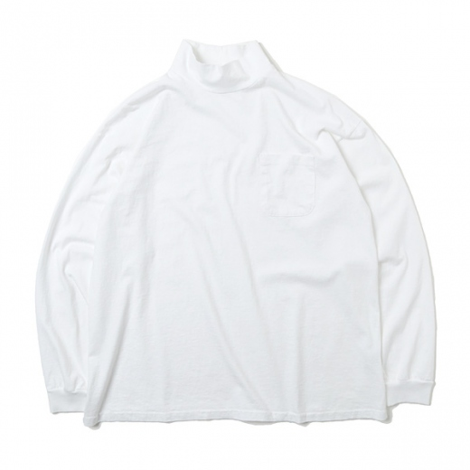HEAVY WEIGHT L/S MOCK NECK T-SHIRT