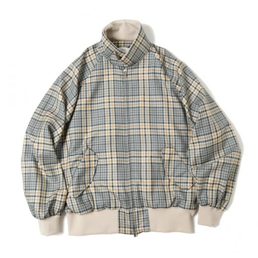 FIELDSMAN SHORT JACKET ORGANIC WOOL CHECK SERGE