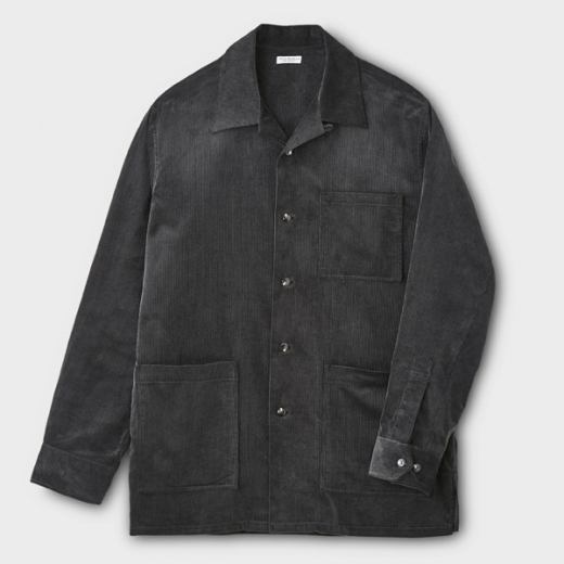 CORDUROY OPEN COLLAR SHIRT