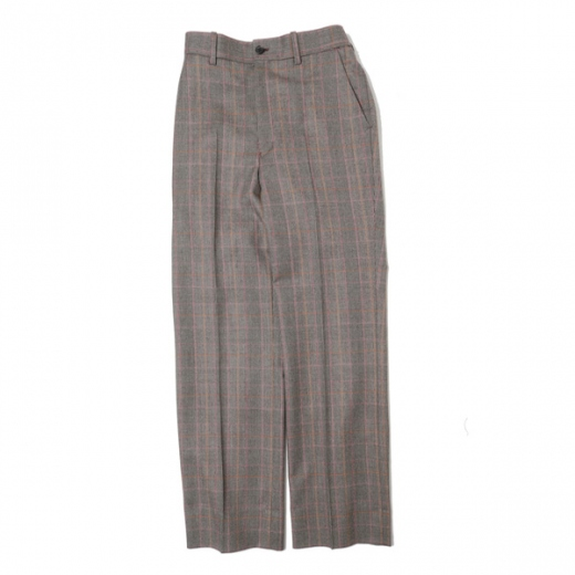 STRAIGHT FIT TROUSERS BROWN CHECK