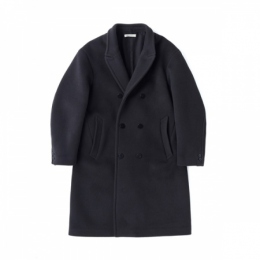 BEAVER CLOTH DOUBLE BREASTED COAT