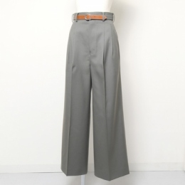 mat worsted two tuck wide pants