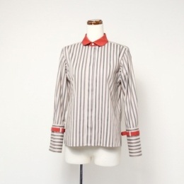 regimental stripe shirt