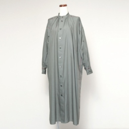 cotton silk roan gathered shirt dress