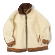 REVERSIBLE QUILTED FLEECE JACKET