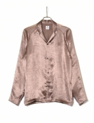 NOTCHED COLLAR SATIN SHIRT