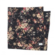 w face flower print scarf