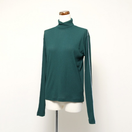 LINED HIGH NECK JERSEY TOP