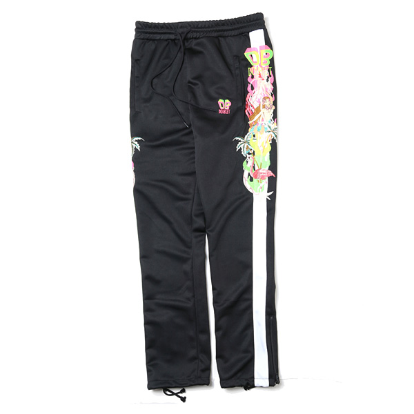 CHAOS EMBROIDERY TRACK PANTS