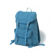 Nylon Cotton Oxford Backpack 29L with Cow Suede Le