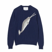 WHALE INTERSIA KNIT WOMEN'S
