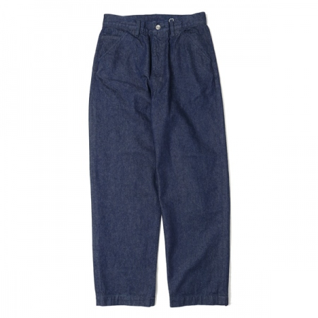 NO TUCK WIDE TAPERED DENIM TROUSERS
