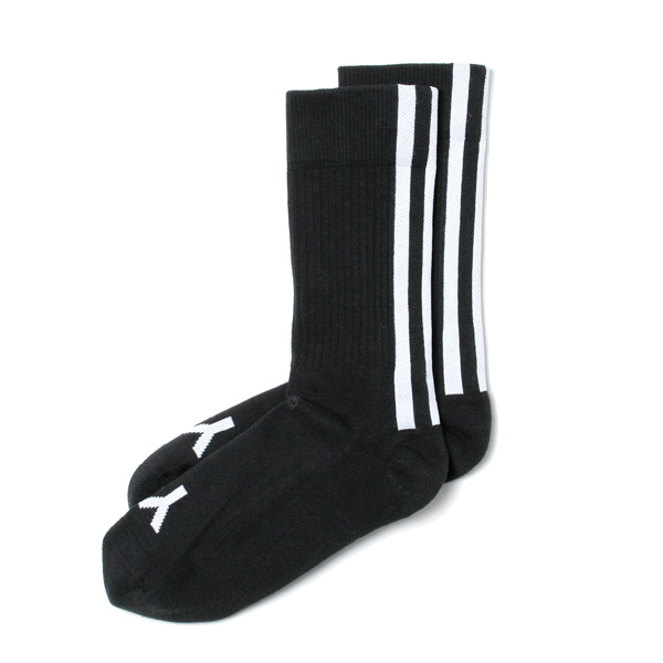 Y-3 STRIPE SOCKS (BLACK)