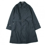 FINX POLYESTER DOUBLE CLOTH SOUTIEN COLLAR COAT