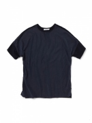 CLERK TEE S/S R/C TWILL WITH COTTON JERSEY