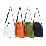 Polyester Ripstop Drawstring Shoulder Bag