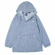 Hickory Stripe Hooded Field Jacket