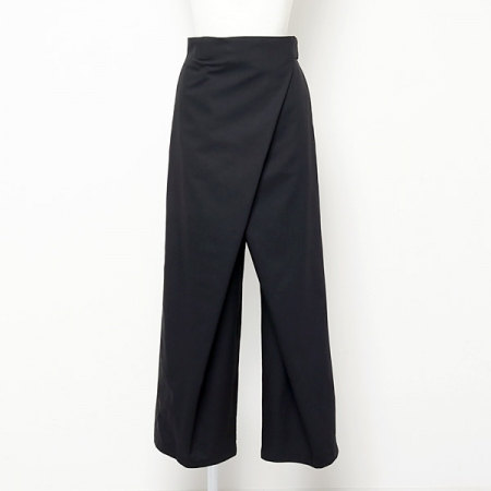 Silk Wool Fold Waisted Pants