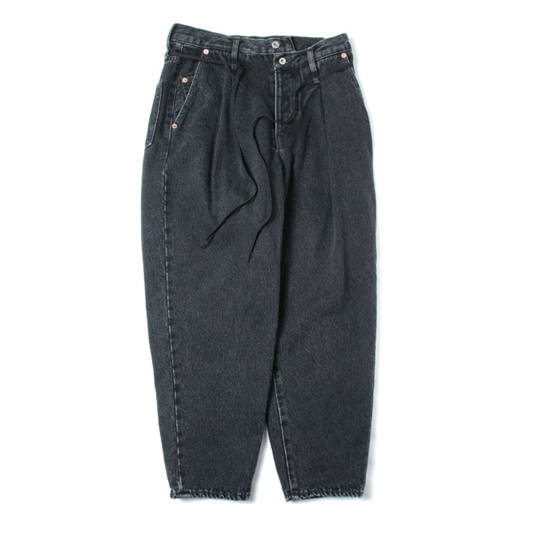 SILK DENIM WIDE TAPERED TROUSER