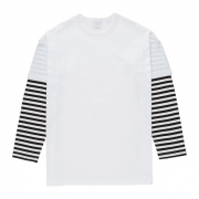 LAYERED BORDER SLEEVE TEE