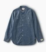 NAVAL BAND COLLAR SHIRT