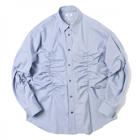 Gather Stripe Shirt
