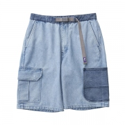 Broken Twill Denim Cargo Shorts