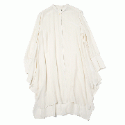 Square long shirts (crape de chine)