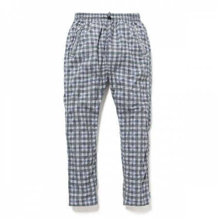 SOLDIER EASY PANTS COTTON TWILL PLAID PRINT