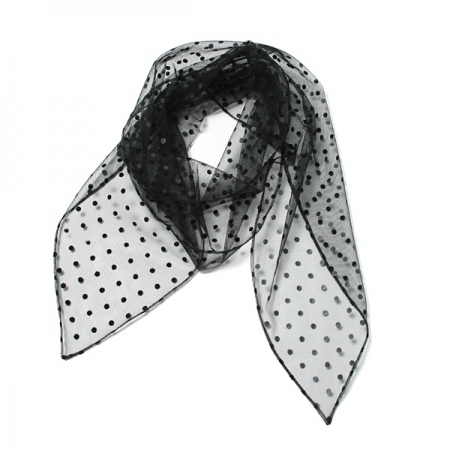 FLOCKED MESH SCARF