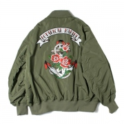EMBROIDERED OVERSIZED MA-1 BLOUSON