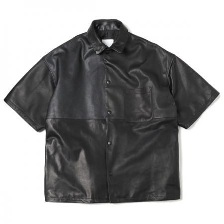 LEATHER SHORT SLEEVE JACKET