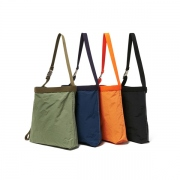 Cotton Nylon Grosgrain Shoulder Bag