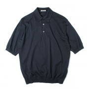 SUPERFINE HIGH GAUGE KNIT BIG POLO