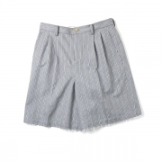 FRAYED HEM SHORTS(STRIPE)