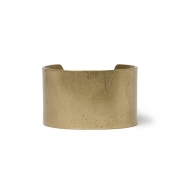 Brass Flat Bracelet Wide