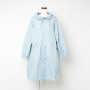 cotton ramie cloth military over coat