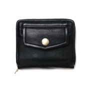 shrink leather fold wallet