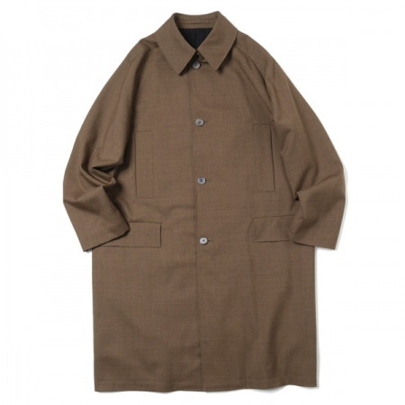 RAGLAN MAC COAT ORGANIC WOOL TROPICAL