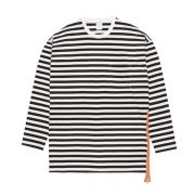 L/S SIDE ZIP BORDER TEE