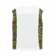 TROPICAL PATTERN PRINTED BACK GATHERED NO SL TOP