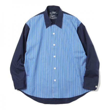 EXACT SHIRT(DARK NAVY STRIPE)