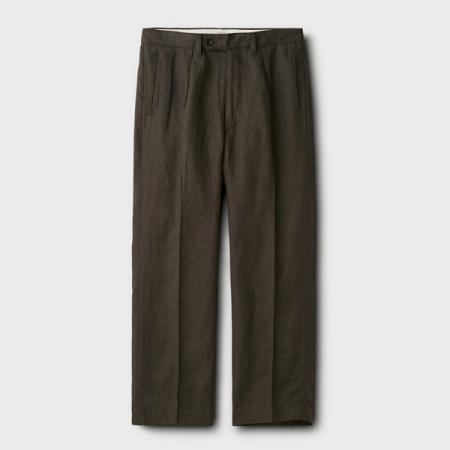 LINEN PIN TUCK TROUSERS