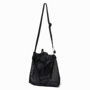 Polyester Mesh Drawstring Shoulder Bag