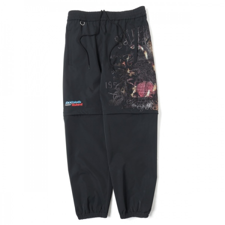PRINTED CHAOS EMBROIDERY 2WAY PANTS