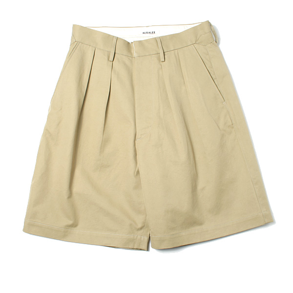 WASHED FINX LIGHT CHINO WIDE SHORTS